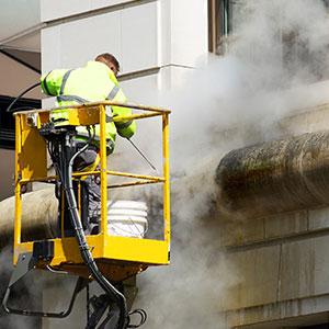 Čištění fasád, mytí budov