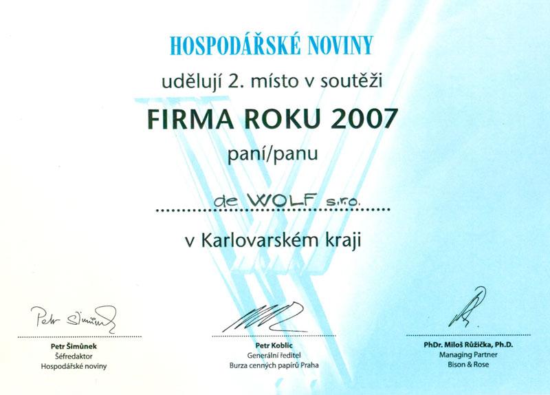 Firma roku 2007 - Hospodářské noviny
