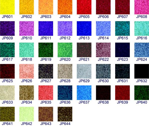 Logo rohože - vzorník barev