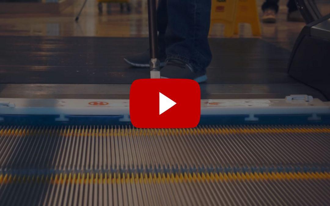 REN - nástroj na čištění eskalátorů