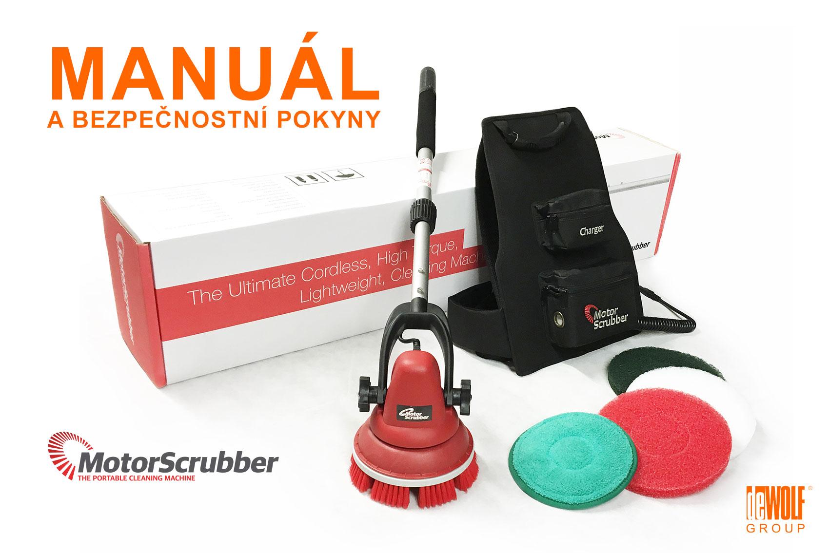 Bezpečnostní pokyny a manuál pro jednokotoučový podlahový stroj MotorScrubber