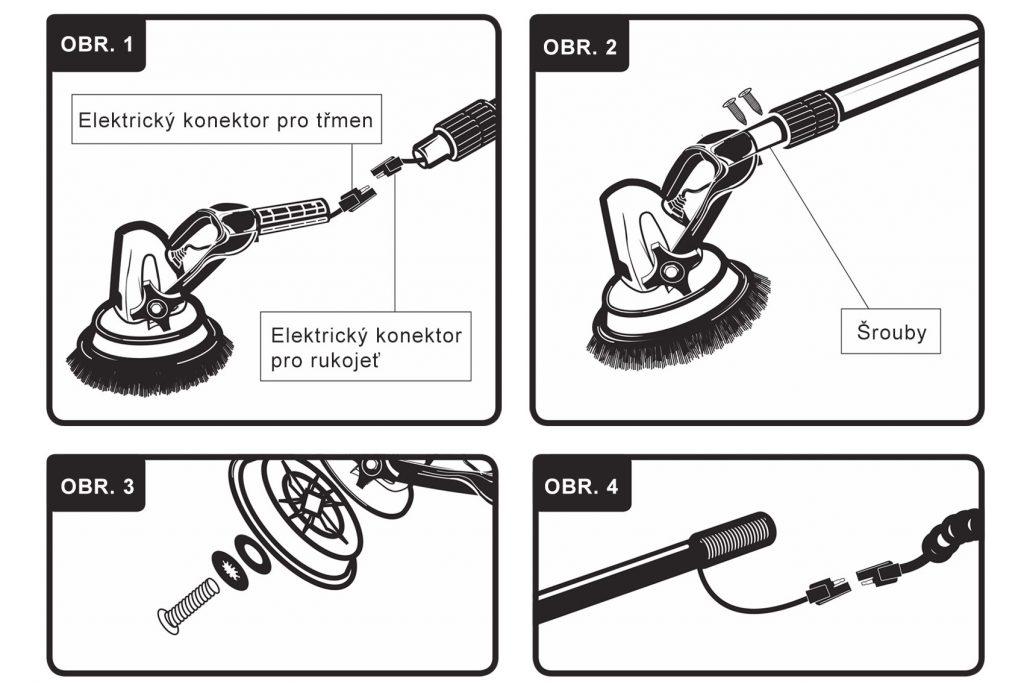 Návod na montáž rukojeti MotorScrubberu