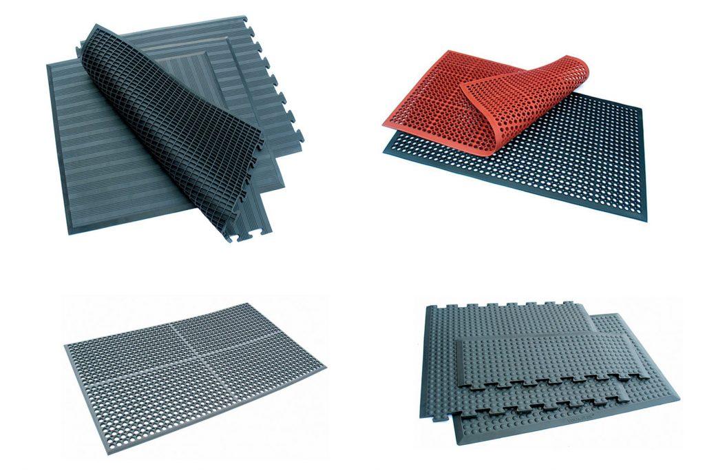 Průmyslové rohože s ergonomickými vlastnostmi - AirFlex, YogaFlex, Nordic Lite, Safe Link, Safe Link Lite, Sanitop