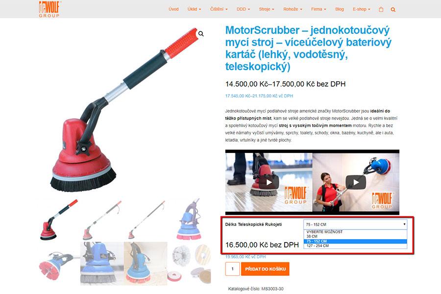 Úklidové stroje a technika - e-shop