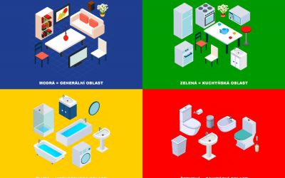 Systém barevného kódování při úklidu a kontrola infekce – část 5 (Barvy vybavení a čisticích prostředků)