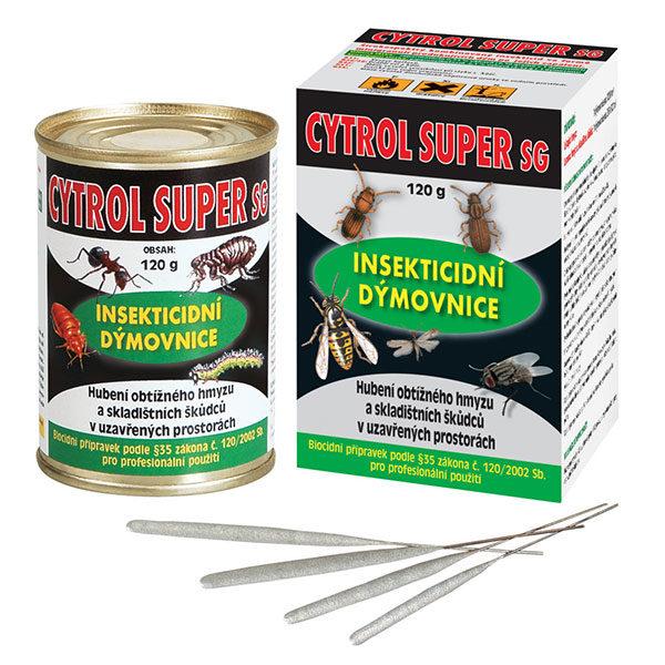 Cytrol super SG (insekticidní dýmovnice) na hubení širokého spektra hmyzu