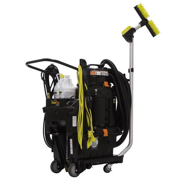 OmniFlex Spray-and-Vac byl navržen pro silně znečištěné prostory s použitím čerpadla – toalety, kuchyně, parkoviště, chodníky