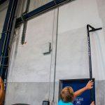 SpaceVac, čištění stěny