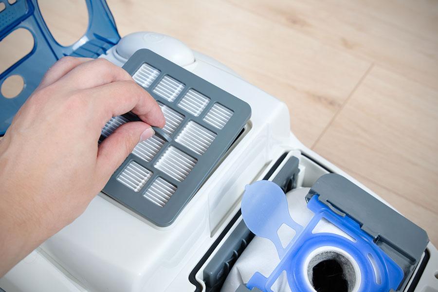 HEPA filtr ve vysavači