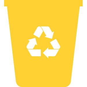 Kontejner na tříděný plastový odpad