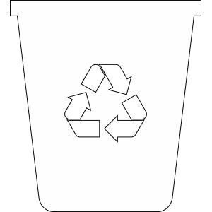 Kontejner na tříděný skleněný odpad - pro čiré sklo