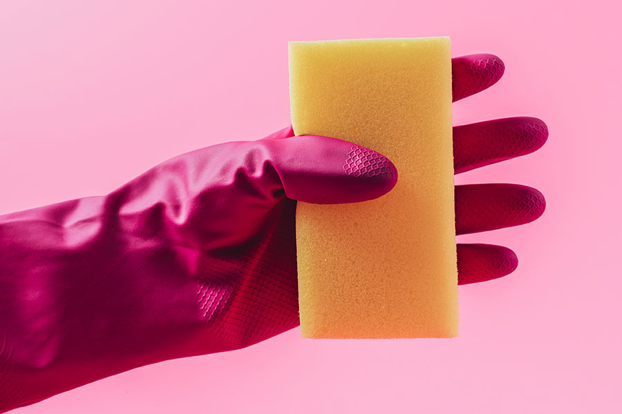 Gumové ochranné rukavice