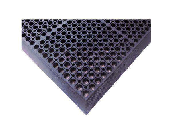 Safe Link - průmyslová rohož s drenážními otvory a protiskluzovým povrchem (ergonomická)