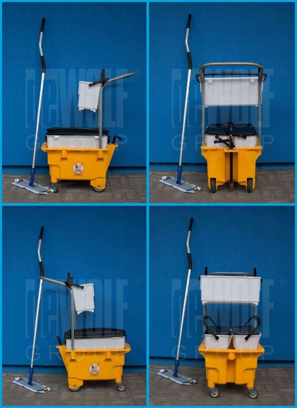 OmniFlex™ Microfiber Trolley System - úklidový vozík s mikrovláknovým mopem